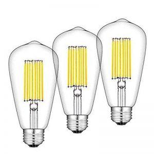 Bonlux 3-PCS ST64 LED filament ampoule 12W E27/E26 base antique Edison lampe ampoule blanc froid 6000k long filament 120w Haligen remplacement de la marque Bonlux image 0 produit