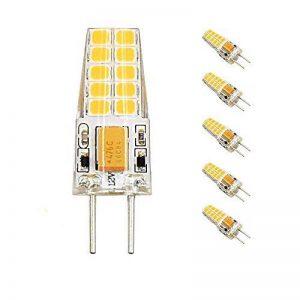 Bonlux 5-PCS g6.35 lampe LED 3W 12V Blanc froid 6000k 300 Lumen pin Socket g6.35 ampoule LED remplacement pour 30W ampoule halogène utilisation pour l'éclairage de salle de séjour, éclairage de cuisine, éclairage paysager (5-Piece) de la marque Bonlux image 0 produit