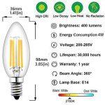 Bonlux LED E14Bougie ampoules compatibles avec variateur d'intensité Culot à vis 4W, LED Filament ampoules flamme E14SES vintage ampoules LED Blanc chaud 2700K, ampoules halogènes E1435W-40W de remplacement (5-Pack) de la marque Bonlux image 3 produit