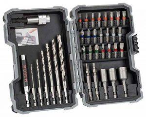 Bosch 2607017327 Forets et embouts de vissage jeu de 35 pièces ph1/ ph2/ ph3/ pz1/ pz2/ pz3/ sl3/ sl4/ sl5/ sl6/ h3/ h4/ h5/ h6/ t10/ t15/ t20/ t20/ t25/ t27/ t30/ t40 de la marque Bosch image 0 produit