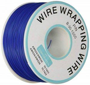 Breadboard P/N B-30–1000étain plaqué fil de cuivre Emballage câble 30AWG 305M Bleu de la marque Sourcingmap image 0 produit