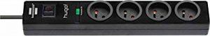 Brennenstuhl 1150611604 Bloc multiprise parasurtenseur 4 prises Noir de la marque Brennenstuhl image 0 produit