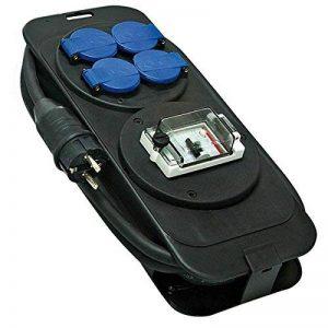 Brennenstuhl 1152301 Console multiprise avec protection différentielle 30 mA, bloc 4 prises étanche avec câble H07RN-F 3G2,5 (5 m), noir & bleu, Quantité : 1 de la marque Brennenstuhl image 0 produit