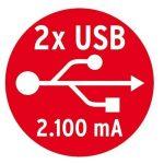 Brennenstuhl 1396201013 Tower Power Bloc multiprise escamotable 3 prises/2 prises USB avec interrupteur câble 2 m, 230 V, Anthracite de la marque Brennenstuhl image 4 produit