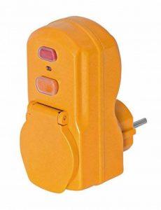 Brennenstuhl Adaptateur étanche avec protection différentielle 30 mA, adaptateur fiche 2P+T 16A/230V~ avec 1 prise 2P+T 16A/230V~, orange, Quantité : 1 de la marque Brennenstuhl image 0 produit