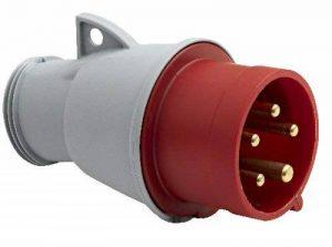 Brennenstuhl Fiche mle protégée contre les projections d'eau (IP 44), fiche industrielle 3P+N+T (32 A/415 V), rouge, gris/blanc, noir, Quantité : 1 de la marque Brennenstuhl image 0 produit