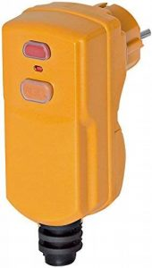 Brennenstuhl Fiche étanche (IP 55) avec protection différentielle 10 mA, fiche mâle 230V (2P+T) pour câble 3G1,5-3G2,5, orange, Quantité : 1 de la marque Brennenstuhl image 0 produit
