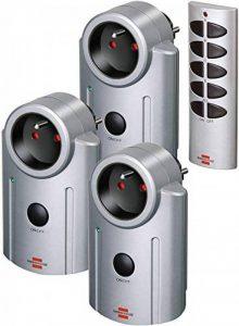 Brennenstuhl Primera-Line Kit de télécommande avec 3 prises télécommandées, set de commande à distance avec interrupteur marche-arrêt, gris, Quantité : 1 de la marque Brennenstuhl image 0 produit