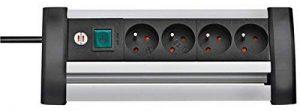 Brennenstuhl Prolongateur multiprise avec interrupteur marche-arrêt, bloc 4 prises avec câble H05VV-F 3G1,5 (1,8 m), noir, Quantité : 1 de la marque Brennenstuhl image 0 produit
