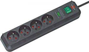Brennenstuhl Prolongateur multiprise Eco-Line avec parasurtenseur 13.500 A, 4 prises, câble H05VV-F 3G1,5 de 1,4 m de long, noir, Quantité : 1 de la marque Brennenstuhl image 0 produit