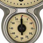 Bresser MyTime Horloge et Minuterie de Cuisine Rétro en Acier Inoxydable de la marque Bresser image 1 produit