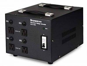 Bronson++ HE-D 4000 Transformateur - 110 volts sortie AC - haute efficacité / faible bruit USA Convertisseur de tension - 4000 watts - Bronson 4000W de la marque Bronson image 0 produit