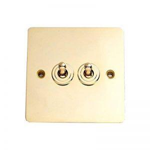 Bulk Hardware BH04155 Interrupteur à bascule double 2 voies plat cuivré de la marque Bulk Hardware TM image 0 produit