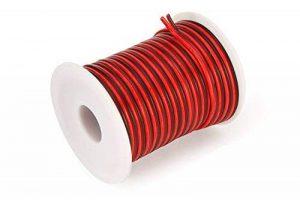 C-able 15.5m Fil Électrique Basse Tension 12v 1mm Double Extensible Noir Rouge Torsadé Multibrin Câble de la marque C-able image 0 produit