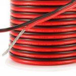 C-able 15.5m Fil Électrique Basse Tension 12v 1mm Double Extensible Noir Rouge Torsadé Multibrin Câble de la marque C-able image 1 produit
