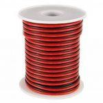C-able 15.5m Fil Électrique Basse Tension 12v 1mm Double Extensible Noir Rouge Torsadé Multibrin Câble de la marque C-able image 2 produit