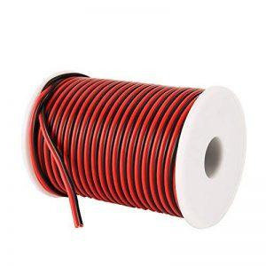 C-able 31M Fil Électrique Basse Tension 12v 1mm Double Extensible Noir Rouge Torsadé Multibrin Câble de la marque C-able image 0 produit
