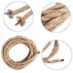 Cable de fil électrique torsadé à 2cœurs de style vintage pour projets maison comme lampe de plafond – 4,45m de la marque Woopower image 3 produit