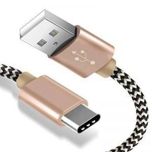 Cable USB C à USB 3.0 AOSTA 2M Câble USB Type C en Aluminium Chargeur USB C pour Samsung Note 8,Galaxy S8/S8+,Macbook Pro,Sony Xperia XZ,Huawei P9,Nexus 5X/6P,Oneplus 2/3,Lumia 950/XL,Xiaomi-OR de la marque AOSTA image 0 produit