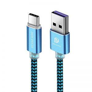 Cable USB Type C, Câble Huawei P20 Lite, Câble Huawei P20, Câble Huawei P20 Pro, DUX DUCIS Durable Nylon Tressé USB 2.0 Type C Chargeur Rapide / Super Charge / Câble de Date de Charge pour Tous les modèle USB-C (Lot de 2: 1M&0.3M) de la marque DUX DUCIS image 0 produit