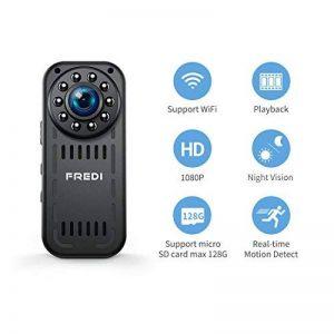 Camera Espion, 1080P HD Caméra de Surveillance Mini Camera WiFi sans Fil Infrarouge de Vision Nocturne Détection de Mouvement Support Maximum Carte de 128G(Pas Incluse) de la marque FREDI image 0 produit