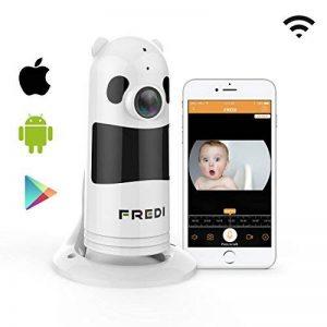 Caméra de Sécurité, FREDI 1080P WiFi Panoramique Caméra de Surveillance,180 Degrés Grand Angle Caméra sans Fil avec Audio Bidirectionnel, Détection de Mouvement, Vision Nocturne, Interphone (Blanc) de la marque FREDI image 0 produit