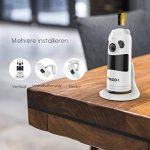 Caméra de Sécurité, FREDI 1080P WiFi Panoramique Caméra de Surveillance,180 Degrés Grand Angle Caméra sans Fil avec Audio Bidirectionnel, Détection de Mouvement, Vision Nocturne, Interphone (Blanc) de la marque FREDI image 3 produit