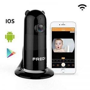 Caméra de Sécurité, FREDI 1080P WiFi Panoramique Caméra de Surveillance,180 Degrés Grand Angle Caméra sans Fil avec Audio Bidirectionnel, Détection de Mouvement, Vision Nocturne, Interphone (Noir) de la marque FREDI image 0 produit