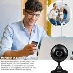 Caméra Ip Wansview HD 1080P, Caméra de Surveillance de Bébé / Nounou à Domicile Wireless Caméra de Sécurité avec la Fente de Carte Mémoire, Vision Nocturne, Audio bidirectionnel - K3 (Noire) de la marque Wansview image 2 produit