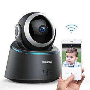 Caméra Sécurité Wifi 1080P FREDI IP, Caméra de Surveillance Sans Fil, Détecteur de Mouvement Infrarouge à Vision Nocturne, Pan Tilt P2P Wps Ir-Cut Babyphone Bidirectionnel de la marque FREDI image 0 produit