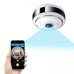 Caméra Sécurité Wifi 960P FREDI IP, Caméra de Surveillance Panoramique 360 Degrés,Caméra WiFi Sans Fil Détecteur de Mouvement Infrarouge à Vision Nocturne, Babyphone Bidirectionnel de la marque FREDI image 0 produit