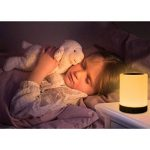 Caxmtu Veilleuse LED Lampe Touch Lampe de Table de Chevet pour Enfants Chambre à Coucher Batterie Compatible avec variateur d'intensité Blanc Chaud Lumière + RGB Changement de Couleur de la marque Caxmtu image 2 produit