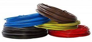 Câble conducteur 10 m, rigide, en PVC, H07V-U, 2,5 mm², couleur : noir de la marque EBROM image 0 produit