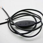 Câble de raccordement câble alimentation pour Leuchten Interrupteur à bascule 250V 2.5A Lampes Câble Noir mâle + 1,50m de la marque Christoph Palme Leuchten image 3 produit