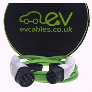 Câble de recharge VE Gen2 type 2 au type 2 3.5m 32A Vert de la marque EV Cables image 0 produit