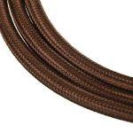 Câble Electrique Textile, Elfeland 10M 3-Core 3x0.75mm² Fil Tressé Vintage Edison avec Conducteur de Terre Câble Tissu DIY Créatif pour Appareils Electriques et Accessoires de Eclairage-Marron de la marque Elfeland image 1 produit