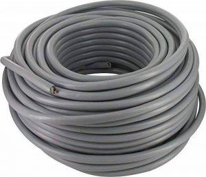 Câble H05 VV-F 2,5 mm² - Couronne 50 m - 5G 2,5 mm² - Gris de la marque SÃlection Brico-travo image 0 produit