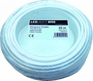 Câble H05VV-F Tuyau 2x 0,75mm 25m (Blanc) de la marque Led Light One image 0 produit