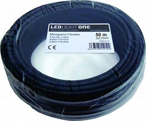 Câble H05VV-F Tuyau 2x 0,75mm 50m (Noir) de la marque Led Light One image 0 produit