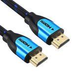 Câble HDMI Blindé 20M - Pro Blue - Cable HDMI 1.4 - HDMI 2.0b / 2.0a - HDR - Ultra HD 4K - Full HD 1080p - Hautes performances : 3D, Ethernet, ARC et CEC - Triple blindage et cordon coton bleu et noir pour une grande flexibilité - Connecteurs Or de la mar image 2 produit