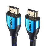 Câble HDMI Blindé 20M - Pro Blue - Cable HDMI 1.4 - HDMI 2.0b / 2.0a - HDR - Ultra HD 4K - Full HD 1080p - Hautes performances : 3D, Ethernet, ARC et CEC - Triple blindage et cordon coton bleu et noir pour une grande flexibilité - Connecteurs Or de la mar image 1 produit
