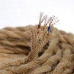 Câble électrique 5m, 3 fils, recouvert de corde de lin torsadée style rétro, pour suspension de lampe, éclairage industriel de la marque FAVOLOOK image 1 produit