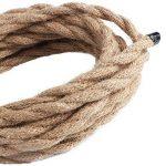 Câble électrique 5m, 3 fils, recouvert de corde de lin torsadée style rétro, pour suspension de lampe, éclairage industriel de la marque FAVOLOOK image 3 produit