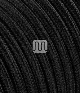 Câble électrique recouvert d'un tissu de couleur. Made in Italy! 10 mètres 3x0, 75 couleur: Noir de la marque Merlotti image 0 produit