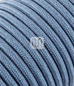 Câble électrique revêtu de tissu ronde coloré tricot Ecru Bleu Bleu 2 x 0,75 pour Lampadaires lampes-abat jour design. Made in Italy ! de la marque Merlotti image 0 produit