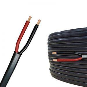 Câble multiconducteur pour l'automobile/remorque 5m, 10m, 20m ou 50m choix: (10m mètre, 2 fils: 2 x 1.5 mm² câble méplat) de la marque AUPROTEC® Automotive Wires image 0 produit