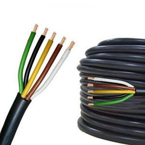 Câble multiconducteur pour l'automobile/remorque 5m, 10m, 20m ou 50m choix: (5m mètre, 5 fils: 5 x 1.5 mm² câble cylindrique) de la marque AUPROTEC® Automotive Wires image 0 produit
