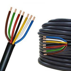 Câble multiconducteur pour l'automobile / remorque 5m, 10m, 20m ou 50m choix: (5m mètre, 7 fils 7 x 1.0 mm² câble cylindrique) de la marque AUPROTEC® Automotive Wires image 0 produit