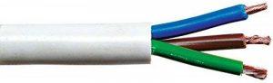 Câble souple domestique H05 VV-F blanc - 3G2,5 mm² - Couronne de 50 m - Electraline de la marque Sélection Brico-travo image 0 produit