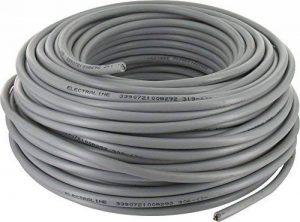 Câble souple domestique H05 VV-F gris 2x1,5 mm² Couronne de 50 m Electraline de la marque SÃlection Brico-travo image 0 produit